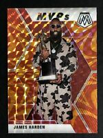 2019-20 Panini Mosaic James Harden MVP's SP Reactive Orange Prizm Refractor MINT