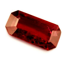 Certified Natural Untreated Emerald Cut Ruby 0.58ct VS Clarity Unheated Gem