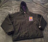 Vintage 90s Phoenix Suns Black Hoodie Jacket XL USA Swingster Starter Champion