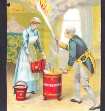 Merryweathers Fire Extinguisher RARE Antique Portable Fire Pump London Adv. Card
