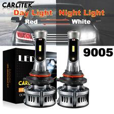 9005 HB3 Red White Devil Eyes Lens LED Headlight Fog Lamp Bulb 300000LM 6500K
