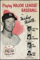 1957 Mickey Mantle Playing Major League Baseball by Mickey Mantle Magazine