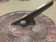 EXTRA LARGE BRONZE SUNDIAL High Quality Made Locally Dandenong Melbourne 4.3kg