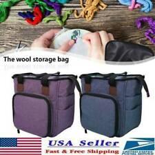 Large Knitting Organizer Crochet Tote Bag Yarn Crochet Storage Holder Bag Diy Us