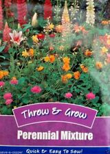 THROW & GROW PERENNIAL MIXTURE COLLECTION MULTI PACK 1200 QUALITY FLOWER SEEDS