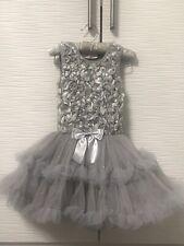 Popatu Gray Ruffle Petticoat Tutu Dress Size Small Girls 3-4