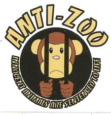 25 Anti Zoo Aufkleber stickers Punk HC sXe Vegan Animal Liberation Tofu ALF