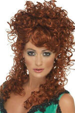 Auburn Saloon Girl Wig Fancy Dress Western Showgirl Ladies Costume Accessory New