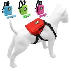 Pet Dog Backpack Harness Bag Cat Leashes Pet Dogs Carrier Puppy School Bag Leash
