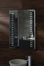 Large Modern Backlit Accent LED Bathroom Mirror Light Sensor Switch 80x 60 cm