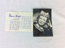 Signed Photo of Anna Neagle and Accompanying Letter