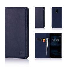 32nd Clásico Original Cuero Real Fino Funda para Nokia Teléfono