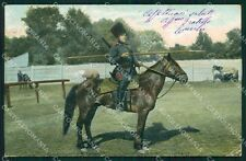 Military Russia Russian Soldier Horse Types CORNER CREASE postcard XF3631