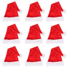 Al Por Mayor Navidad Sombrero Santa Claus Adulto Niños Disfraces para fiesta de Navidad Oficina Lote