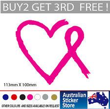 Cancer Awareness Sticker with Heart  Decal for Car , laptop, fridge Popular