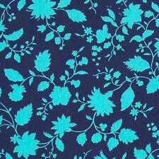 By 1/2 Yard ~ Amy Butler Cotton Fabric ~ Violette Twilight Vine ~ Aqua Floral