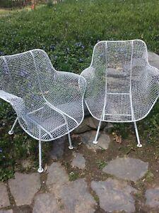 Mid century Modern (Sculptura Hi/ Lo )Wire Mesh Outdoor Chairs