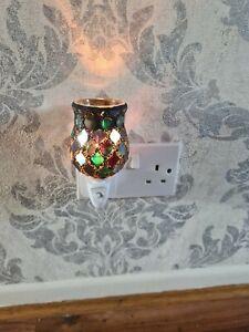 Plug In Electric Wax Melt Warmer Twilight Moroccan Tulip Mosaic Wax Melt Warmer