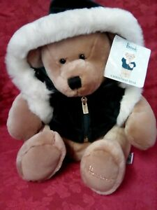 Harrods Christmas Teddy Bear Hand Puppet Collectables With Tags