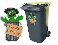 "1 x Oscar The Grouch I love ""Any house number/Name"" Trash. Wheelie bin sticker"