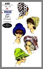 Vogue Millinery Designer John Frederics Hat  Fabric sew pattern # 6411