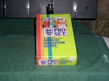 1990-91 Pro Set UK Soccer Collector Cards - Box of 48 Packs - Factory Sealed!