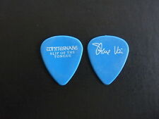 Steve Vai Whitesnake Slip Of The Tongue 1990 Tour Issued Guitar Pick Rare Blue