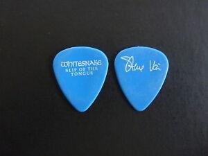 STEVE VAI WHITESNAKE SLIP OF THE TONGUE 1990 TOUR ISSUED GUITAR PICK RARE BLUE