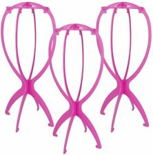 3Pcs 13.8 Inch Portable Short Wig Stand Collapsible Durable Wig Display Tool.