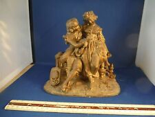 Antique Metal Renaissance Couple Statue