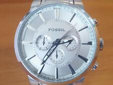 Mens Steel Bracelet XL Fossil FS4359 Speedway Silver Chronograph Analog Watch