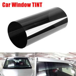 "12""x40"" Dark Smoke Window Tint Film Headlights Tail Lights Car Vinyl Wrap 80%VLT"