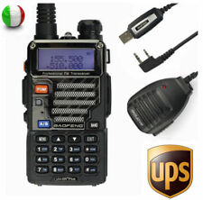 Baofeng UV-5R Plus + Cavo + MICROFONO 136-174/400-520Mhz Walkie Talkie RADIO