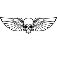 SKULL WITH WINGS  DEATH HEAD CAR DECAL STICKER