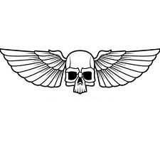 SKULL WITH WINGS CAR DECAL STICKER