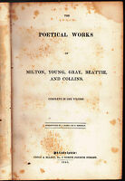 Poetical Works of Milton Young Gray Beattie Collins 1845 Complete in One Volume