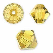 Swarovski Crystal Bicone Light Topaz. 6mm. Approx. 48 PCS. 5328