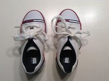 TOMMY HILFIGER INFANT WHITE TENNIS SHOES SIZE 8 M