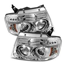Projector Head Lights Lamps Ford F150 2004-2008 HALO LED - Chrome