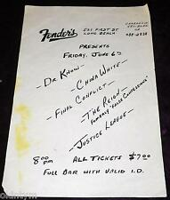 RARE 1986 DR KNOW FLYER JUSTICE LEAGUE CHINA WHITE FINAL CONFLICT @ FENDERS SXE!