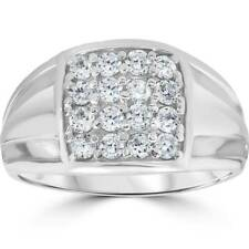 1ct Diamond Mens Wedding Anniversary Ring 10k White Gold