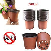 100 Pcs Plastic Nursery Pot Seedlings Flower Plant Container Garden Seed Lot