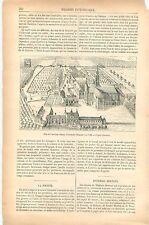 Plan de l'Abbaye d'Averbode Brabant flamand Belgique GRAVURE ANTIQUE PRINT 1879