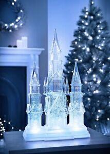 FANTASY LIGHT UP ENCHANTING CASTLE WITH SWIRLING GLITTER & COOL WHITE LED LIGHT