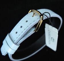 Cabouchon 14mm 1 piezas cocodrilo azul pálido grano cuero reloj correa larga fácil ajuste.