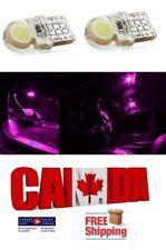 2pcs Pink Purple LED T10 194 168 COB CAR CANBUS ERROR FREE Silicone Light Bulbs