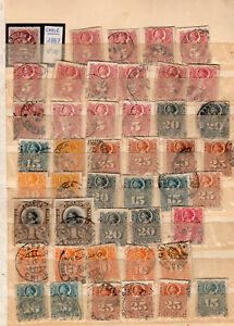 """CHILE LOT, RULETEADOS, WITHOUT REVIEWING, """"WITH CANCELS SURPRISE"""" VF"""