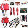 HandBag Straps Replacement Leather Colorful Flower Rivet Strap for Bucket Bags