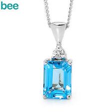 Topaz White Gold Diamond Fine Necklaces & Pendants