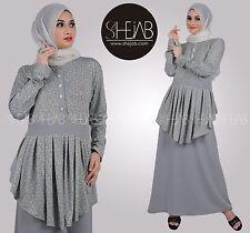 Grey Yureka Maxi dress Nursing Jilbab Abaya